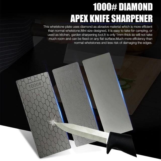 Profesión 400 delgada 1000 Sacapuntas de piedra de afilar cuchillos Placa de diamante piedra de afilar cuchillo afilador amoladora rectificadora herramienta