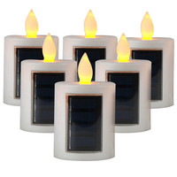 LED Solar Candle Realistic Candle Effect Flameless Yellow Light Perfect for Outdoor Decoration Party Holiday Home Decoration