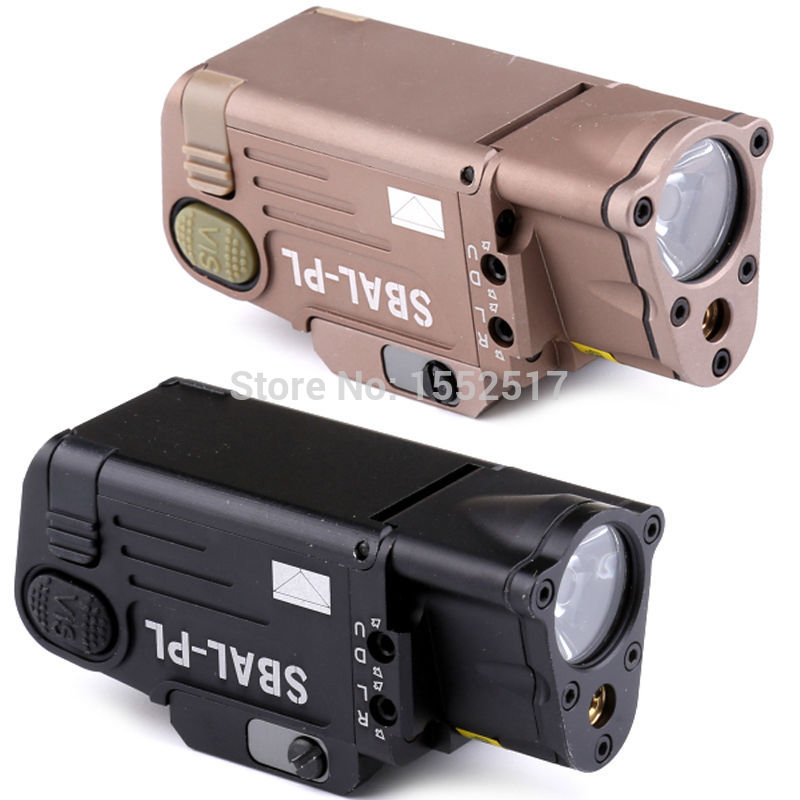 Tactical CNC Finished SBAL-PL Weapon light Constant & Strobe Light With Red Laser Pistol Rifle Flashlight Free Shipping aimtis tactical laser flashlight sbal pl hunting weapon light combo red laser pistol constant