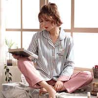 Roupas femininas para o outono inverno pijamas conjuntos o-pescoço sleepwear adorável coelho pijamas mujer manga longa algodão sexy pijamas feminino