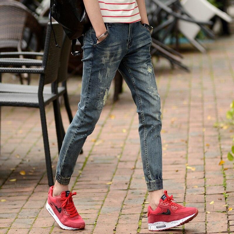Online Shop 2016 New Fashion Men's Skinny Jeans Slim Denim Vintage ...