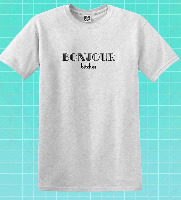 Bonjour Bicks футболка с забавным лозуном в стиле «Парижское утро», футболка с надписью «Инди блоггер», Эйфелева башня, модель 2019 года, модный брен...