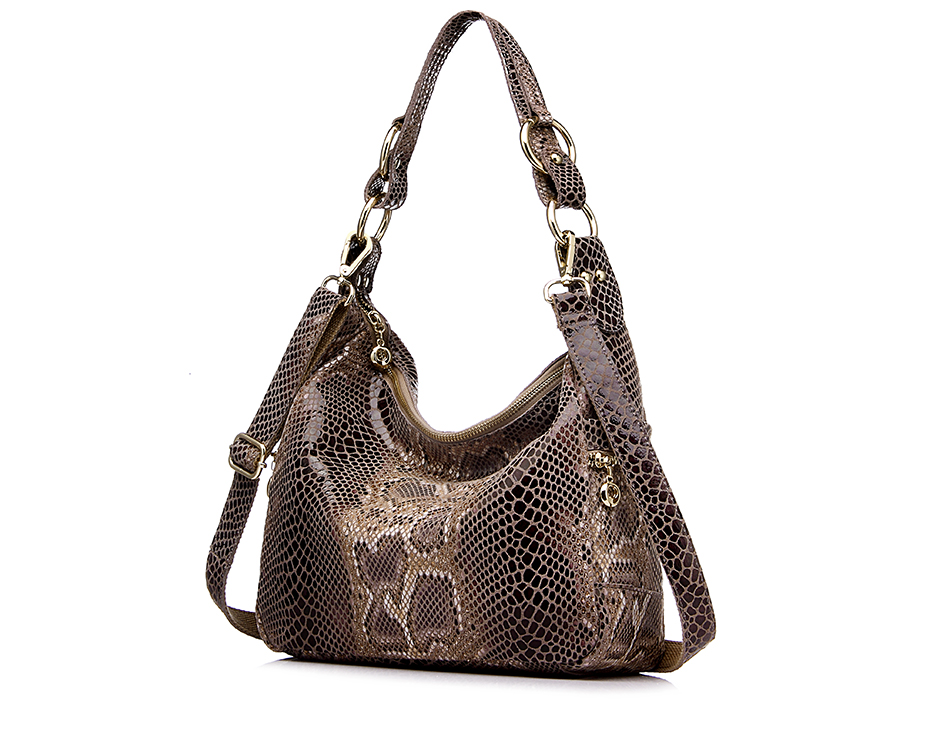 Big Luxury Handbags Designer Genuine Leather Female Shoulder Bags Casual Lady Tote Bags Serpentine Prints