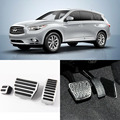 Brand New 3pcs Aluminium Non Slip Foot Rest Fuel Gas Brake Pedal Cover For Infiniti QX60 AT 2014-2016