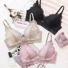 2019 Fashion Wireless Bra Set Push Up Lingerie Sets Soft Underwear Women Brand Sexy and Panty