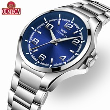 Hot Selling OLMECA Luxury Brand Watch Quartz Watches for Men Waterproof Wrist Watch Reloj Hombre 316L Full Stainless Steel Band