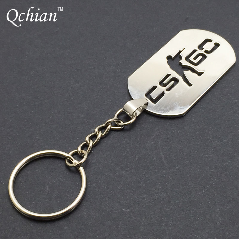 Game HALF LIFE csgo Keychain Keyholder Counter Strike cs go Key Chains Stainless Steel Men Male Keying Porte Clef Chaveiro Carro