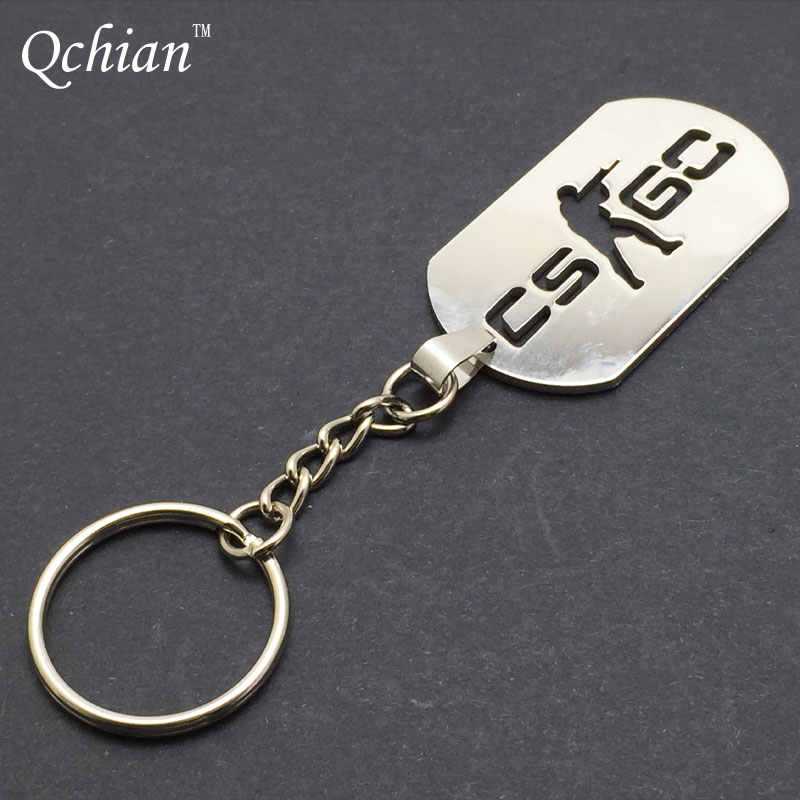 Game Half Life Csgo Keychain Keyholder Counter Strike Cs Go Key Chains Stainless Steel Men Male Keying Porte Clef Chaveiro Carro