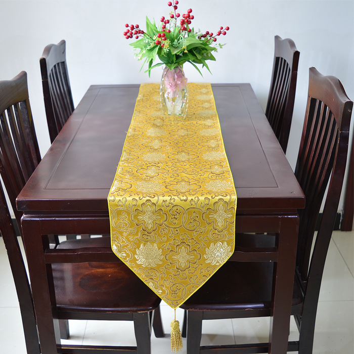High End Extra Long 120 Inch Luxury Silver Decorative Table Runner Feast  Damask Printed Table Cloths Multicolor Option In Table Runners From Home U0026  Garden ...