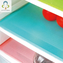 4Pcs/set Fashion Refrigerator cover Antibacterial Antifouling Mildew Moisture Absorption Pad Refrigerator Waterproof Mats WYQ