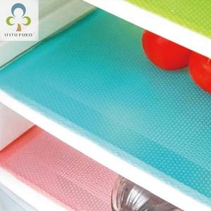 Image 1 - 4Pcs/set Fashion Refrigerator cover Antibacterial Antifouling Mildew Moisture Absorption Pad Refrigerator Waterproof Mats WYQ