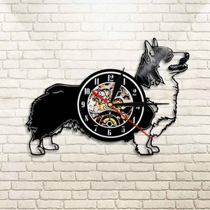 Cardigan Welsh Corgi Dog Vinyl Record Wall Clock Pet Puppy Time Clock Dog Lover Gift Animals Wall Art Decor Home Decor(China)