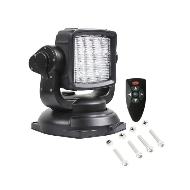 9 Inch 80w Us Cree Chip Led Remote Control Searchlight 12v Offroad Cars Truck Boat Suv Tractor Search Work Lamp Light