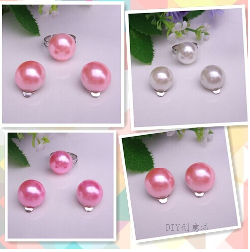 Korean Princess Earrings S Pearl Ear Clip Set For Kids Baby Children Without Make