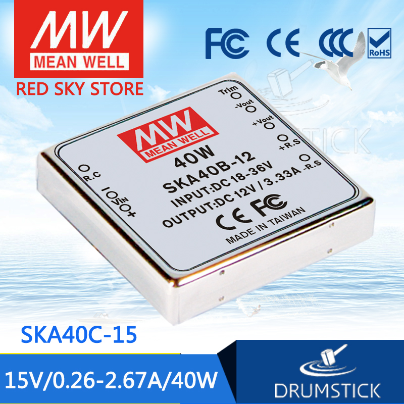 Genuine MEAN WELL SKA40C-15 15V 2.67A meanwell SKA40 15V 40W DC-DC Regulated Single Output Converter стул кедр адмирал ska 01