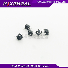 100pcs button Touch  switch 6*6*5 keys button DIP 4pin 6*6*5mm Light touch switch DIP4 /OFF Touch 6x6x5 High quality