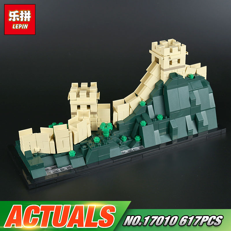 Lepin 17010 617Pcs Architecture Building Series The 21041 The Great Wall Set Building Blocks Bricks Toys For Kids Chritmas Gift great wall style building home with jim spear