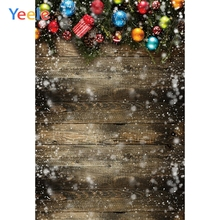 Yeele Christmas Decor Wood Texture Tree Family Party Photography Backdrop Personalized Photographic Backgrounds For Photo Studio