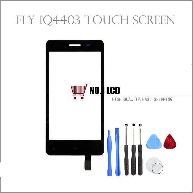 Touch screen Digitizer For Fly IQ4403 Energie 3 /fly IQ 4403 Replacement Glass Touch panel +Tools