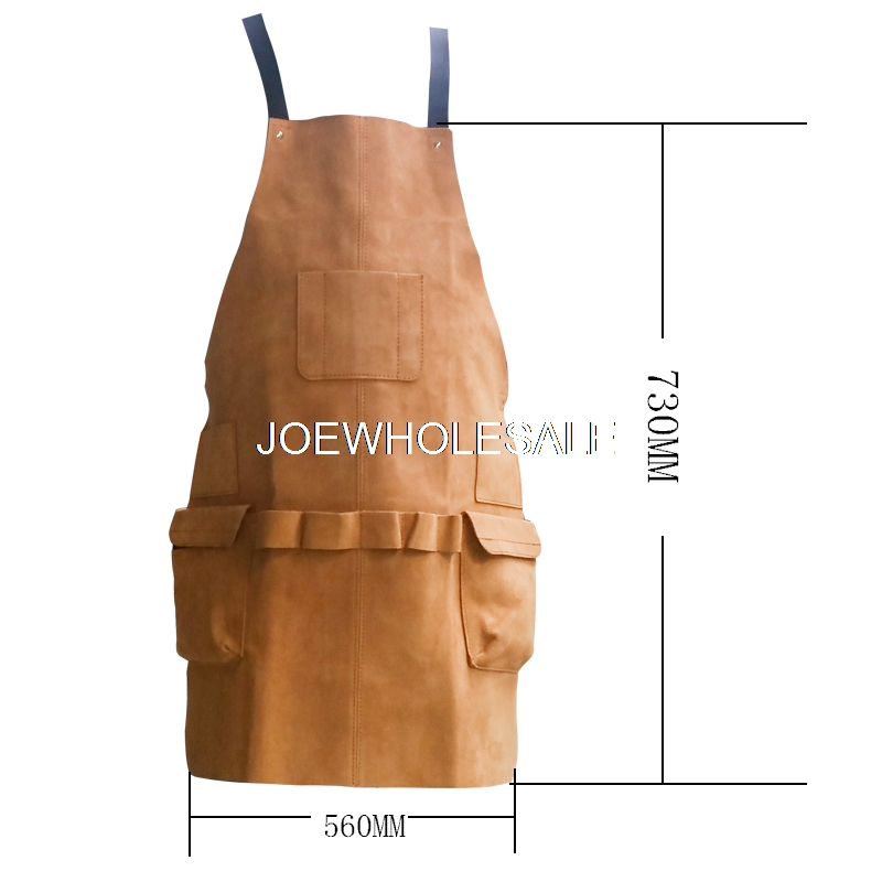 Woodworking room dustproof and oilproof real cowhide apron