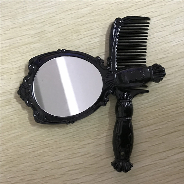 100 unids/lote 12 cm plegable espejo de maquillaje espejo compacto con el cristal, de metal espejo de aumento espejo de bolsillo para el regalo de boda