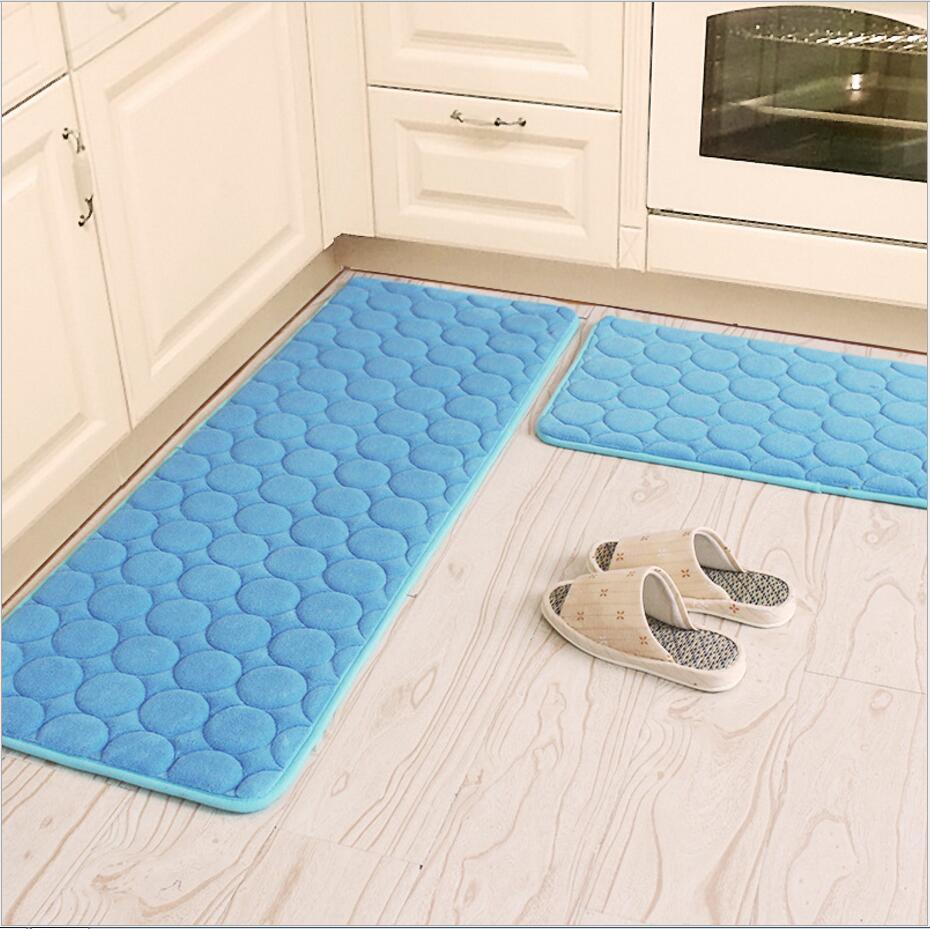 50X80 + 60X160 ซม./ชุด Thicken Coral Velvet พรมสำหรับห้องนั่งเล่น Anti   Slip ห้องครัวพรมห้องน้ำดูดซับน้ำพรม-ใน เสื่อ จาก บ้านและสวน บน AliExpress - 11.11_สิบเอ็ด สิบเอ็ดวันคนโสด 1