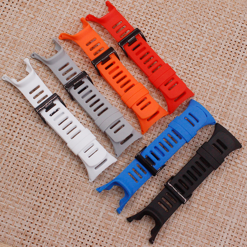 Watch Accessories For SUUNTO AMBIT Series 1 - 2 - 3 Generation Color Silicone Notch Strap Men's Women's Watch Band