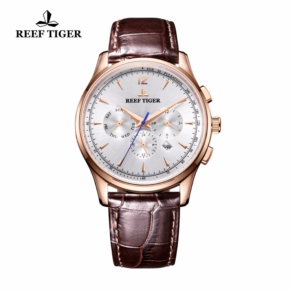 2018 New Reef Tiger/RT Top Brand Luxury Watch Men Automatic Mechanical Watches Date Day Watches RGA1654 вьетнамки reef day prints palm real teal