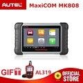 Autel MaxiCOM MK808 OBD2 сканер OBDII диагностический инструмент автомобильный считыватель кодов программирование ключей IMMO TMPS <font><b>PK</b></font> MX808 подарок AL319