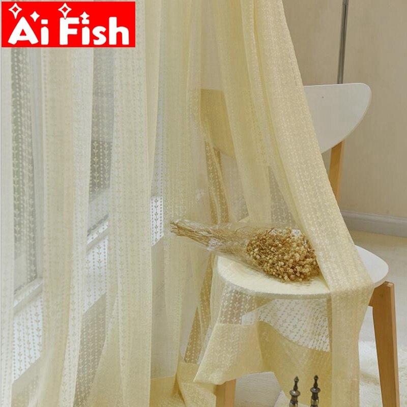 Amerikanischen Ländlichen Vertikale Spitze Blume Vorhang Gaze Bildschirme Pop-stil Gelb Fenster Tüll Für Wohnzimmer Anpassung Df083-40 Fensterbehandlungen