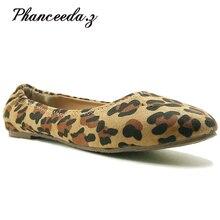새로운 2018 새로운 봄 신발 여성 플랫 최고 품질 플랫 신발 유럽 스타일로 퍼 라운드 발가락 캐주얼 신발 플러스 크기 7 10