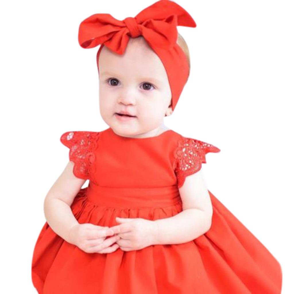 MUQGEW Summer Dress Girl Solid O-neck Sleeveless Girls Summer Dress New Arrivals sukienka dziewczynka cute dress