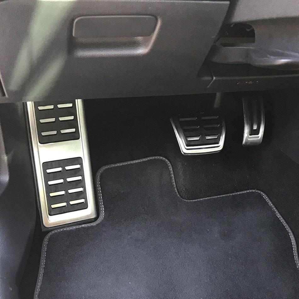 Aço inoxidável Carro De Combustível Freio Pedal Resto Pedais Capa para Volkswagen VW Skoda Kodiaq 2016 2017 2018 LHD