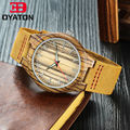 Fashion Lovers' Natural Wooden Watches Luminous Hand Wooded Case With Genuine Leather Strap Quartz Wristwatch Men And Women's