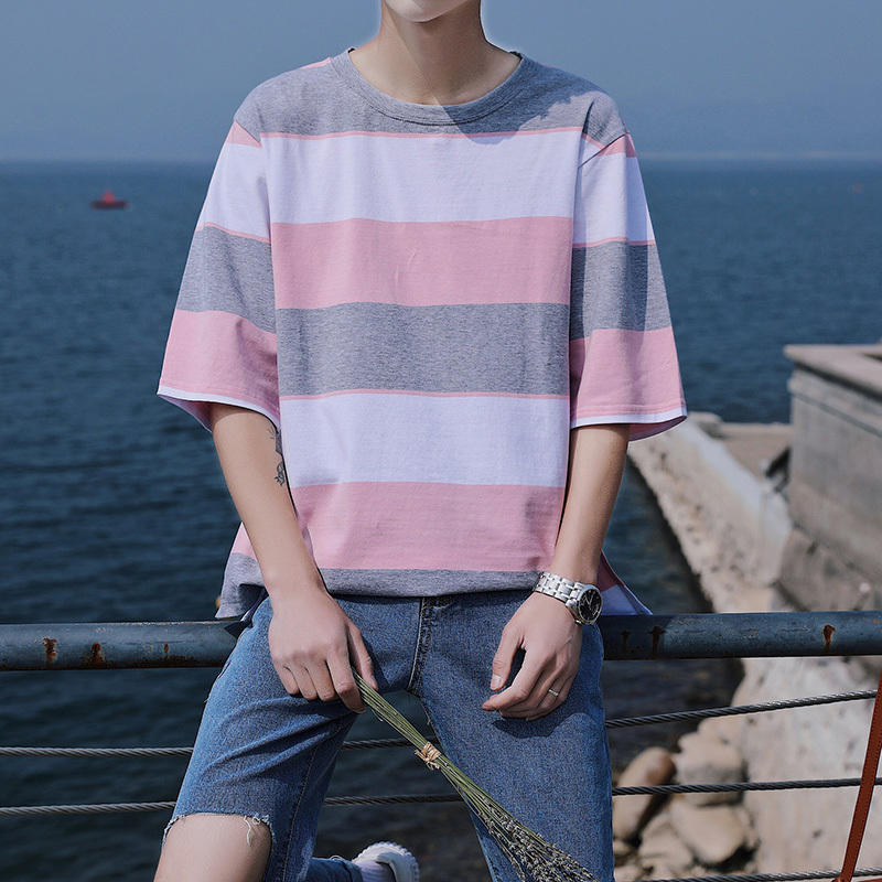 Short Sleeve T T-shirt 2018 Original The First Goods In Stock Pure Cotton Stripe All-match Aberdeen Favourite Free shipping