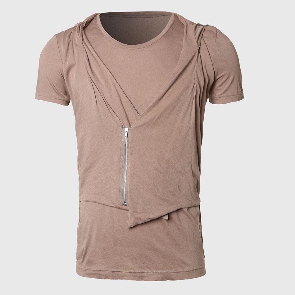 Buy Novelty Hooded T Shirts Men Zip