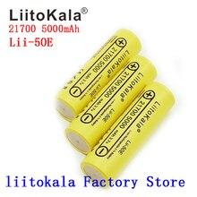 LiitoKala batería recargable para aparatos de alta potencia, Lii 50E, 21700, 5000mah, 40A, 3,7 V, 10C