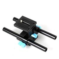 15mm Rail Rod Support System Baseplate Mount For DSLR Follow Focus Rig Mattebox 5D2 70D D800