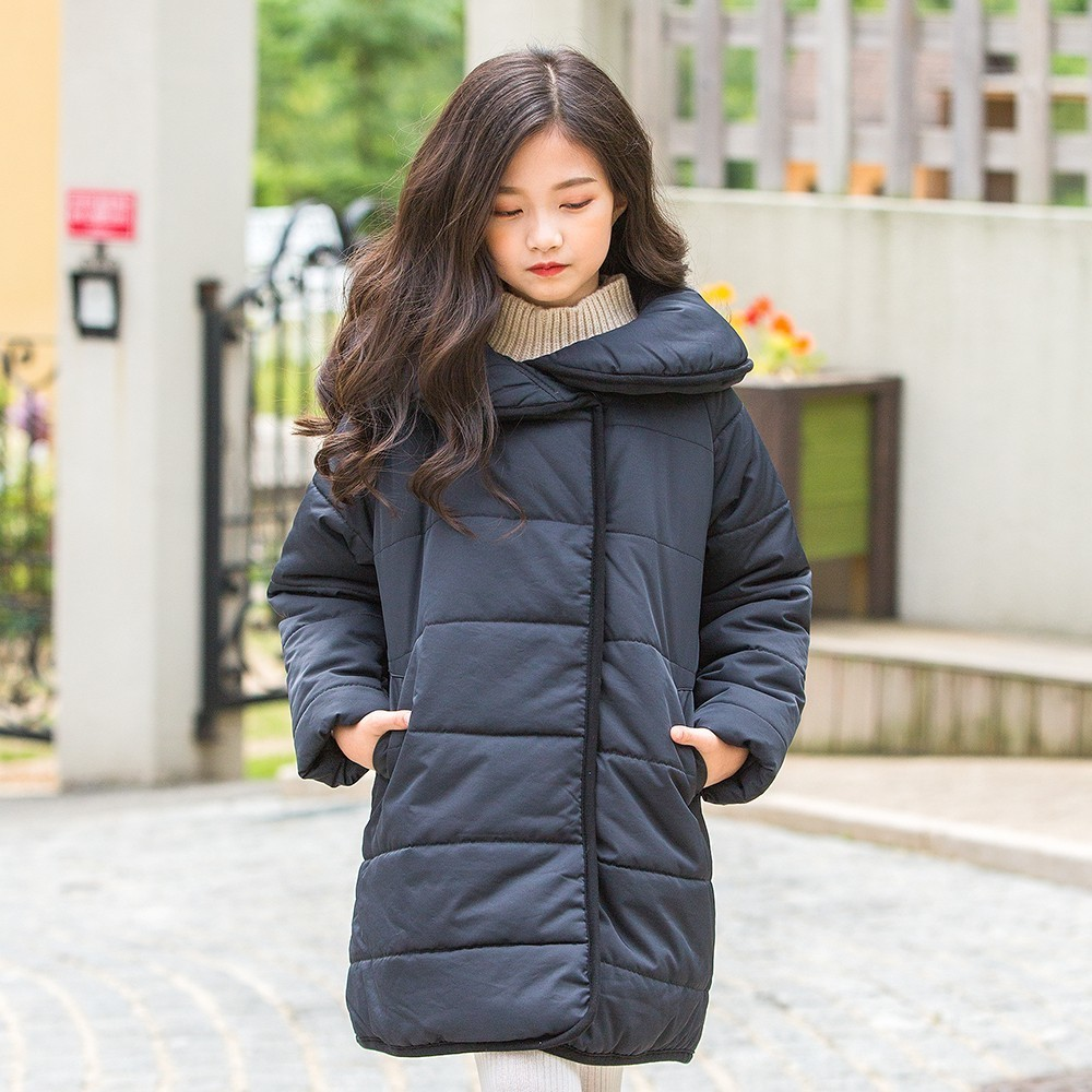b49f4aae0 Toddler Girls Winter Jacket Long Coats Hooded Parkas Thick Outwear ...