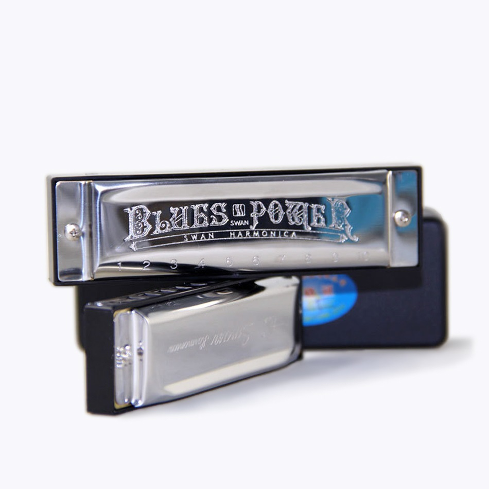 10 Holes  SWAN SW1020H C Key 20 Tone Blues Harmonica