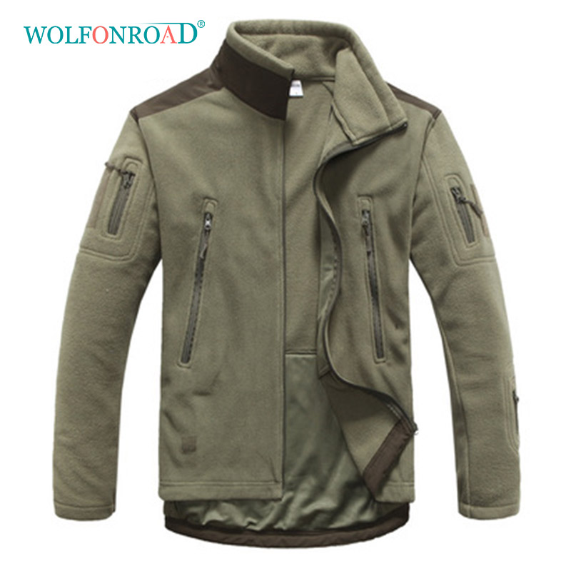 WOLFONROAD New Outdoor Men Jacket Winter Tactical Coat Fleece Clothing Climbing Hiking Jackets Soft Shell Male Jacket L-ADL-02 цена 2017