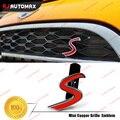 S Logo Car Front Grille Emblem Badge For Mini Cooper S Exterior Decoration S R50 R53 R55 R56 R57 R60 R61 F54 F55 F56 Countryman