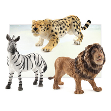 Simulation Zoo Tiger Elephant Lion Educational Learning Model Toys For Children Gifts Action Toy Figures E