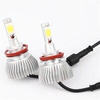 2X Car LED Headlight 12V 24V 60W 6000LM 6000K Light Auto Headlamp Bulb Kit H1 H3