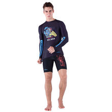 Beach Wear Man Surfing Rash Guards Wetsuit Long Sleeve Shirt Surfing Suits Diving Pants Surf Shorts Men NY002