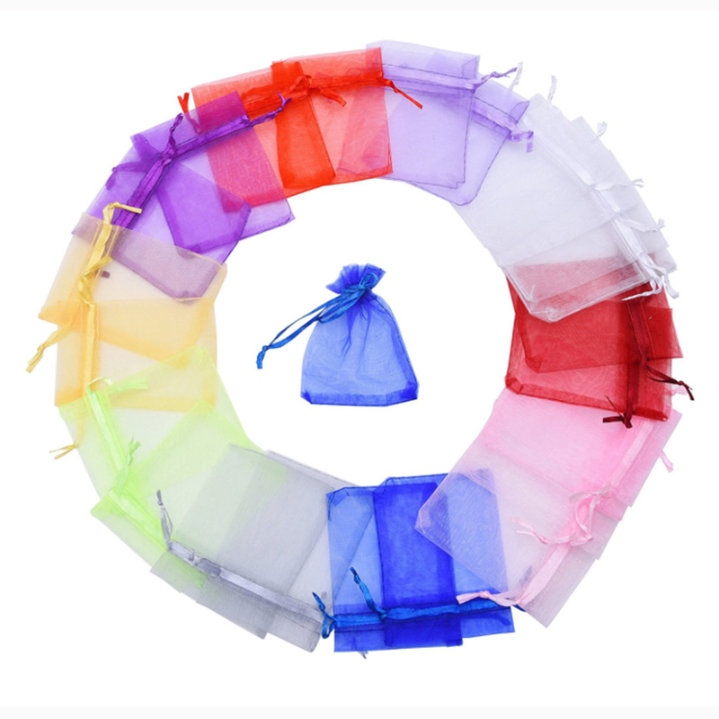 Small Wedding Gift Bags: Aliexpress.com : Buy 100pcs Drawable Organza Bags 7*9cm/3