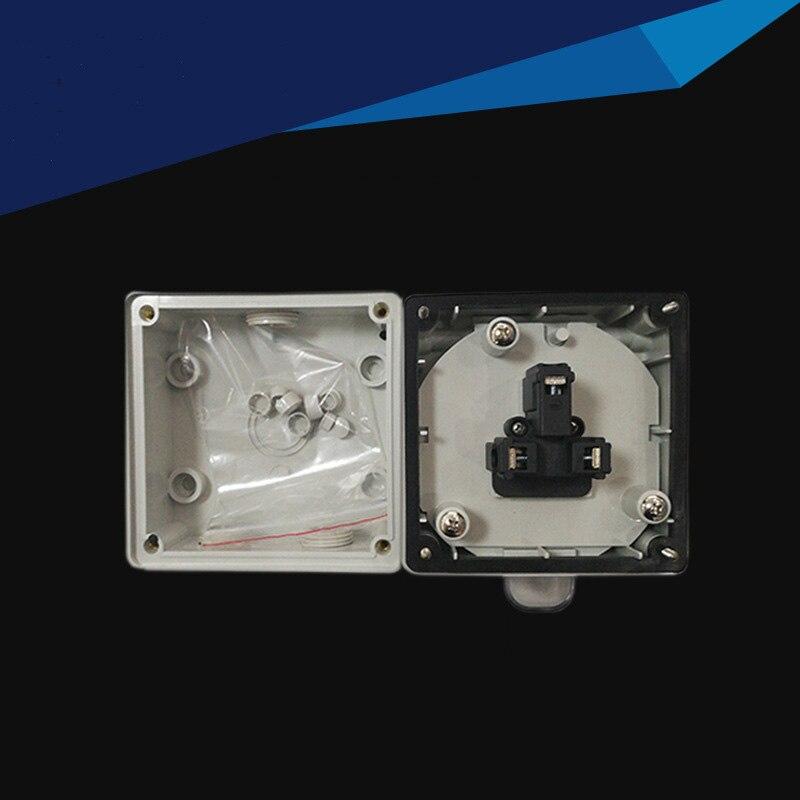 IP66 Waterproof Dust proof Outdoor Wall Power Socket 13A Universal Electrical Outlet Industrial Waterproof Socket
