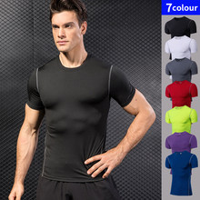 rapide Sport chemise homme course Fitness serré rashgard football basket maillot Gym Demix Sportswear compresser T-shirt(China)