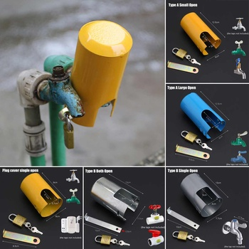 1 Set Iron Lockable Tap Protective Cover Outdoors Garden Against Theft Safe Home Improvement Kitchen Faucet Accessories