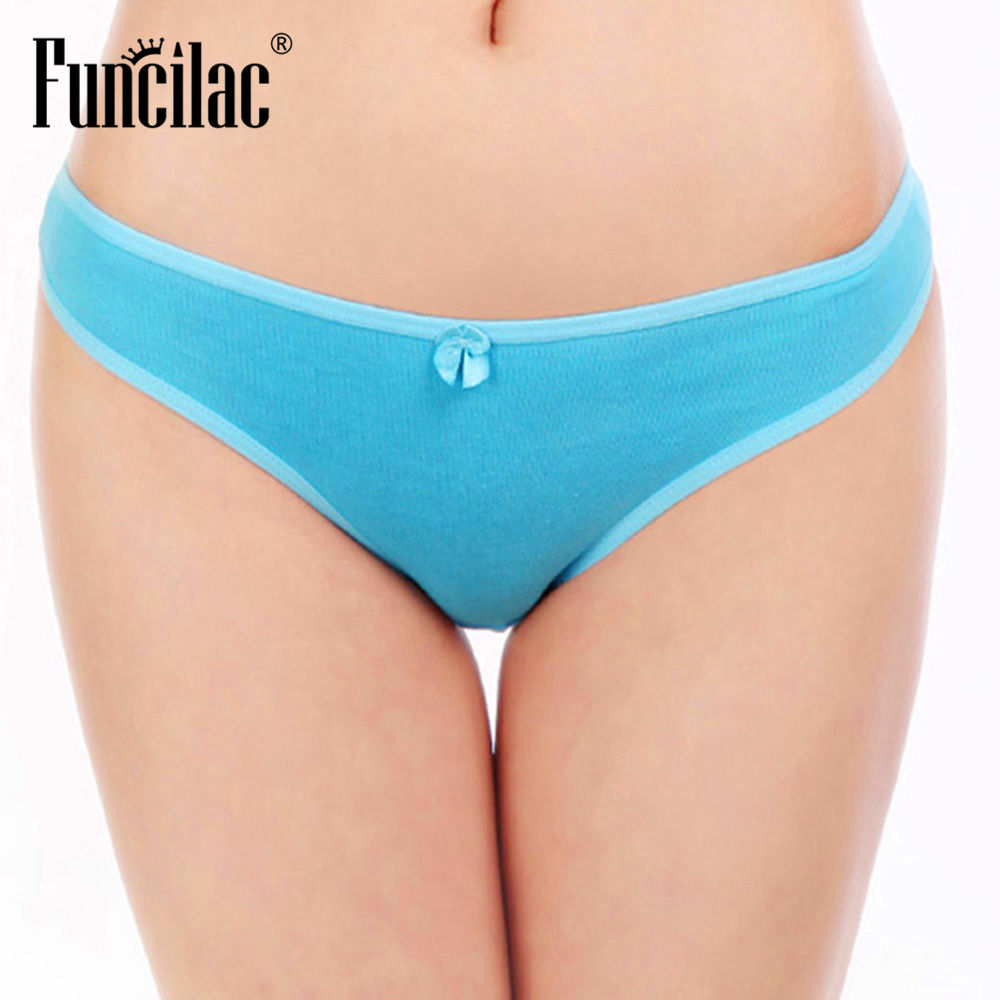 Funcilac Sexy Lady Thongs G-string Women Bikini Panties String Woman Culotte Femme Coton Thong Panties Womens Underwear 1 Piece